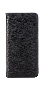 Fonerange Apple iPhone 7 Leather Booklet Case - Black