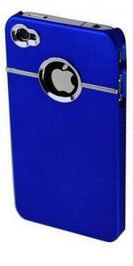 Fonerange Chrome Shell Case For Apple iPhone 4 (Back) - Blue