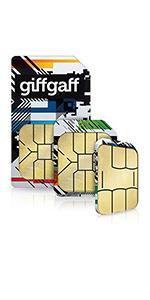 GiffGaff Pay As You Go Triple Sim Card