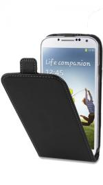 Fonerange Slim Executive REAL Leather Flip Case Cover for Samsung Galaxy S4 I9500(Black)